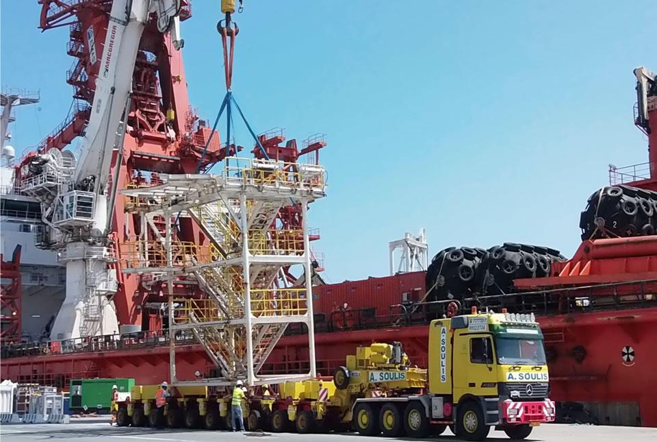 Heavy Transport of Offshore equipment