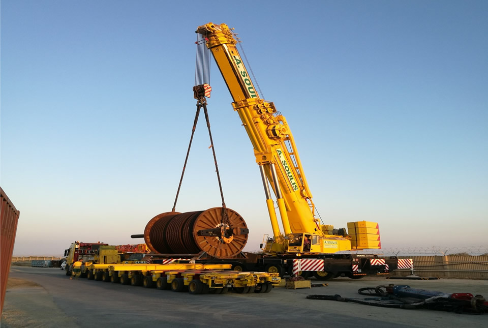 Cable reel 115 tons
