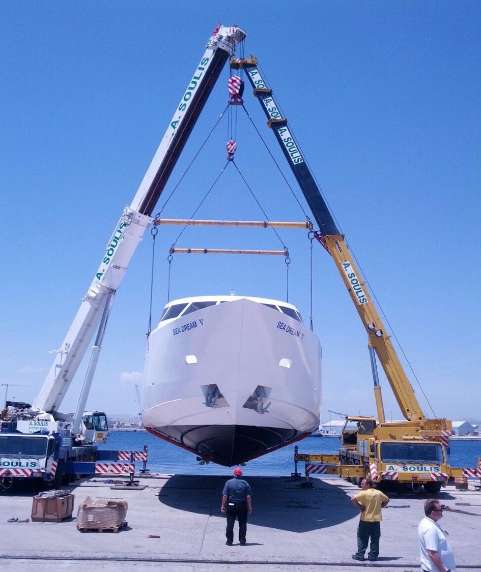 Yacht launching