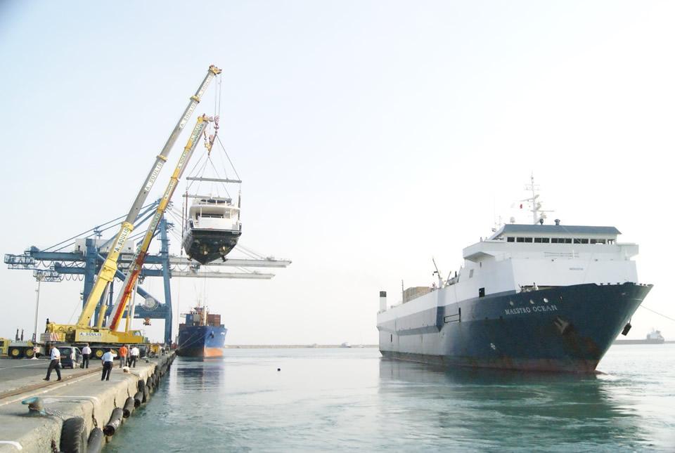 Yacht discharging
