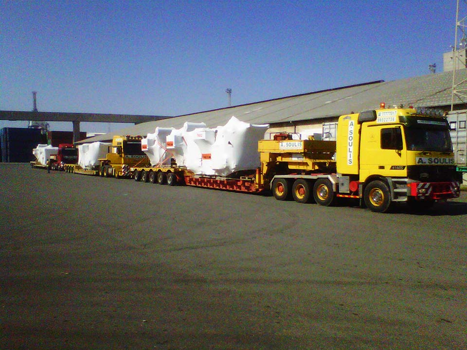 Transport and positioning of transformers for EAC